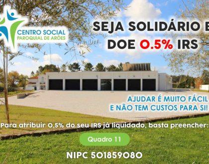Seja solidário - Doe 0,5% IRS
