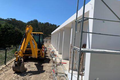 O progresso das obras da ERPI do Centro